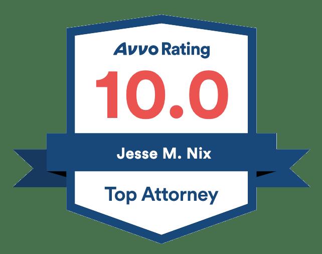 Avvo Rating 10.0 - Jesse Nix