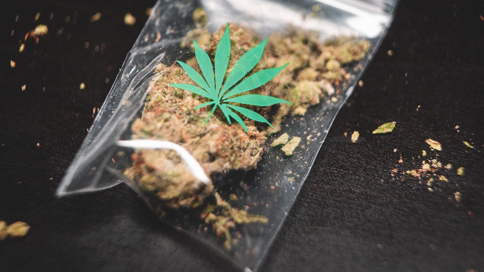 small bag of marijuana