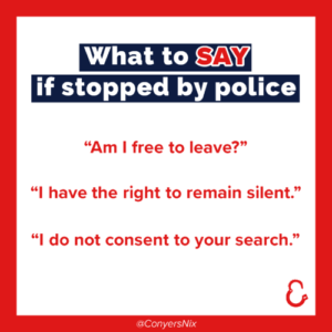 What to say if stopped by the police checklist